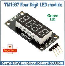 "4 digit Green 7 segment display module 0.36""  with Clock points TM1637 RobotDyn"