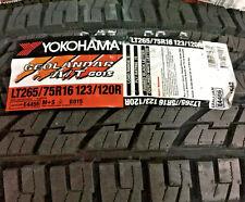 4 New LT 265 75 16 Yokohama Geolandar A/T G015 10 Ply Tires