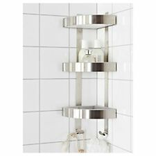stainless steel 3 tier bathroom corner wall shelf grundtal unit ikea