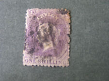 CEYLON, SCOTT # 57, 1/-  VALUE PURPLE 1863-67 QV ISSUE USED