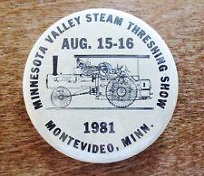 23d Annual Sept Stephen Minn 1987 Button Vouk's Steam Threshing Show St