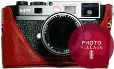 Black Label Bag Leica M8 M8.2 M9 M9-P M9-M Half-case in Red
