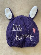 "Baby Winter Fleece Hat ""Little Bunny"" Cute Baby"