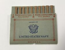 WWII 1942 US NAVY American Pullmatch UNUSED Matchbook (1 Book) FREE SHIPPING!