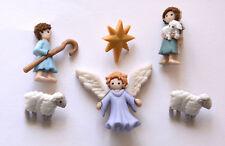The Good Shepherd / Dress It Up Holiday Buttons ~ Jesse James / Angel & Shepherd