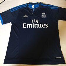 Adidas Climacool Real Madrid Medium Snap Button Jersey Dark/Light Blue