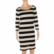 Vero Moda Jumper Dress Cream & Black Stripey 3/4 Sleeve Knit Size XS Be 260
