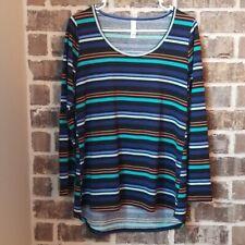 LuLaRoe Multicolored Striped Top, Size S