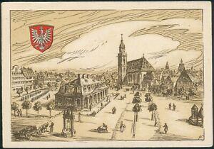 Postkarte/FDC Hauptwache Frankfurt a.Main 1948 Mi.-Nr.80,947 SST 1.6.1948