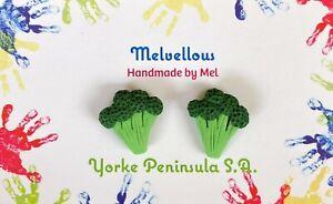 Broccoli studs Melvellous earrings vegetables