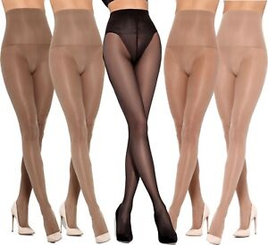 Control Top Tights Belly Shaping 20 Denier by Mona Slimming Effect Tights New