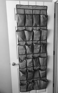 24 Pocket Over the Door Shoe Rack Organizer - Hanging Storage