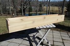 "48"" Cedar Wood Square Front Flower Box Planter Deck House Patio Wide Herb Garden"