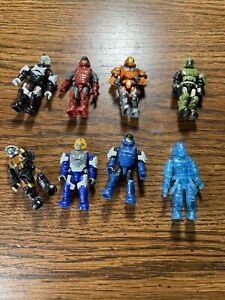 Halo Mega Construx UNSC Marine Lot Of 8 No Weapons Fast Shipping F7