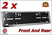 2x Delux Chrome Car Custom Number Plate Licence Holder Toyota Avensis