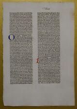 Original Blatt aus der KOBERGER BIBEL 1475, Nürnberg, rubriziert Inkunabel 5