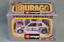 Burago 1/24 Peugeot 205 Turbo 16 Lombard RAC Rally car.