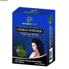 2 x 100 Gr. Ancien Veda Indigo Powder (Indigofera Tinctoria) Hair Dye Color