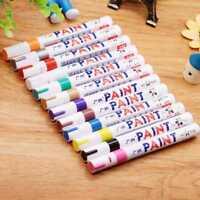 12 Farben Lackmalstift Fine Paint Art Marker Pen Metall Wasserdicht DE #