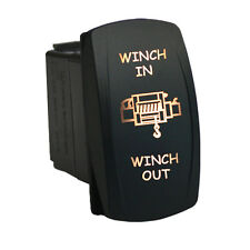 Rocker switch 653WM 12V WINCH IN WINCH OUT Laser  Momentary LED white