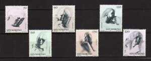S27595) Dealer Stock San Marino 1977 MNH Virtue Civilian II 6v (X10 Sets)