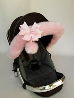 Icandy Pram Fur Hood Fur Trim Baby Pram Pushchair Carrycot fit all models Icandy
