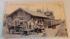 Old Uniontown PA. B. & O. Railroad Depot Station, Baggage Carts ++ Postcard Repo