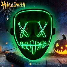 Mascara Led De Halloween: Mascara De Halloween Cosplay Scary Light, Mascara El