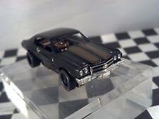 70 Chevelle Hurst Black/Gold MoDEL MoToRING HO scale slot car T-jet Cool Wheels