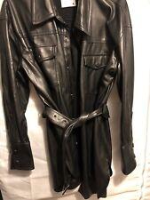 zara faux leather shirt/ Jacket