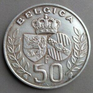 50 francs Belgium 1960, VF