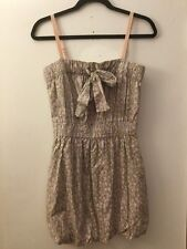 J. Crew Gray Floral Sun Dress With Pockets, Size XS