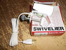Vintage Swivelier Swivel Clamp On White Light New in Box 21828WH
