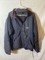 Helly Hansen Men's Rain Jacket Wind Breaker Full Zip Hooded Grey  Size Large