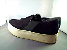 ***VINCE Sz 7.5M suede leather FASHION SNEAKER black!!