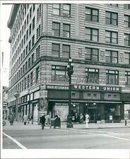1958 Western Union Building Salt Lake City Utah Original News Service Photo
