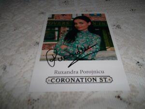 Ruxandra Porojnicu (Coronation Street) Signed Cast Card