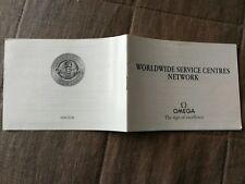 Booklet Omega speedmaster pro circa 2000