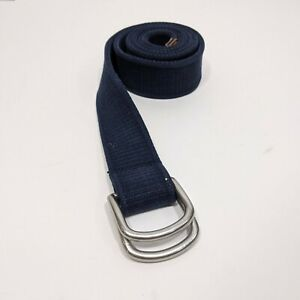 Polo By Ralph Lauren Blue Canvas Belt With Double D Ring Closure Size Large