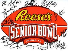 2017 Reese's Senior Bowl team hand signed autographed 8x10 football photo COA!