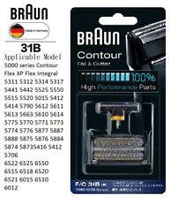BRAUN 31B CONTOUR FOIL & CUTTER SHAVER REPLACEMENT 5311 5312 5314 5317 5441 5442