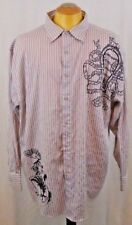 Swiss Cross 4XL Light Brown Long Sleeve Casual Men's Dress Shirt Cotton/Poly Mix