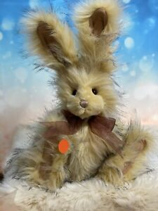 DANDYLION Charlie Bears Bunny Beautiful Yellow With Black Tipping Retired
