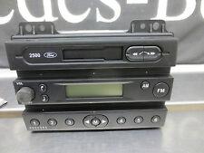 FORD 2500 STEREO CASSETTE RADIO FM testa dell' unità con chiave codice parte no 1332700