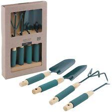 Garden Tool Set Wood Metal Replanter Hand Trowel Cultivator Digging Spade Weed