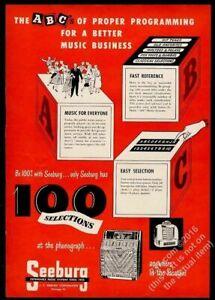 1950 Seeburg model A M100A jukebox & wallbox photo vintage trade print ad 7