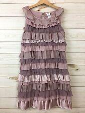 Crewcuts Girls Dusty Rose(Mauve) Sleeveless Cotton/Silk Layered Cake Dress. 12