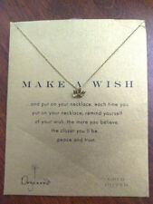 Dogeared Make A Wish Gold Dipped Necklace with Lotus Pendant New Other