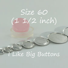 "100 FLAT BACK Size 60 (1 1/2""/38mm) Cover/Covered Buttons Fabric SELF COVER"