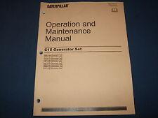 CAT CATERPILLAR C15 GENERATOR SET OPERATION & MAINTENANCE MANUAL
